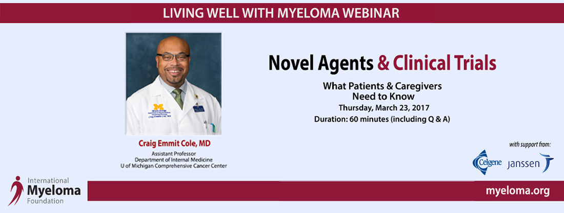 Dr. Craig Cole Novel Agents and Clinical Trials