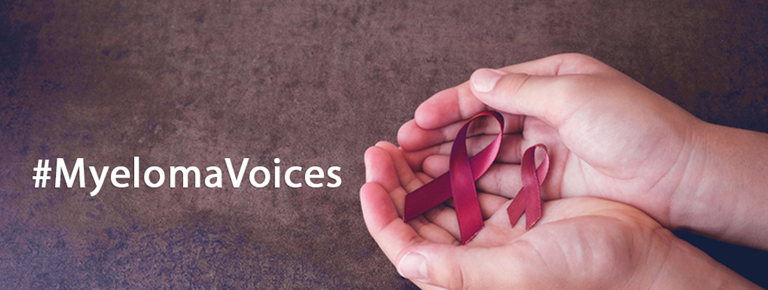 Myeloma Voices logo with palms out