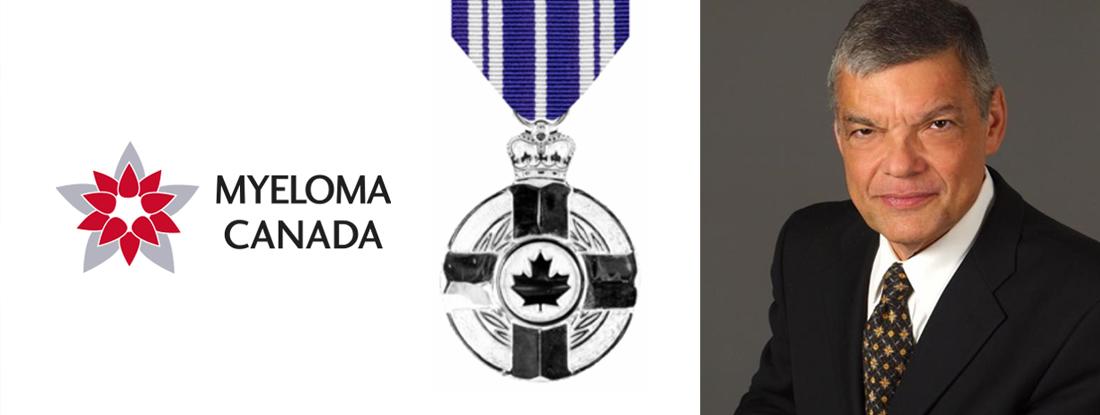 Aldo Del Cal pictured with Myeloma Canada logo