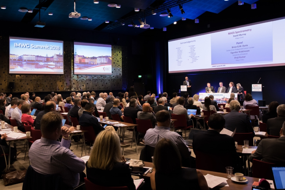 2018 International Myeloma Working Group Summit plenary session in Stockholm