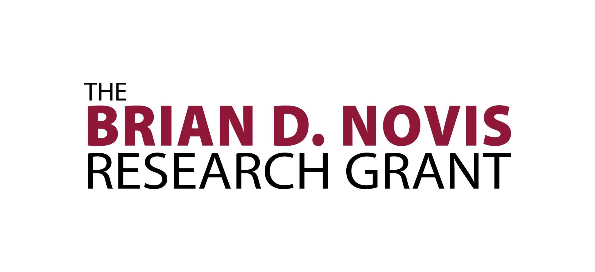 Brian D Novis research grant logo