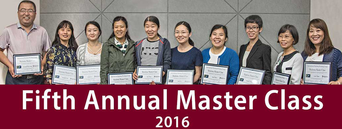 Fifth Annual Master Class 2016 text overlaid on image of participating Chinese Hematologists