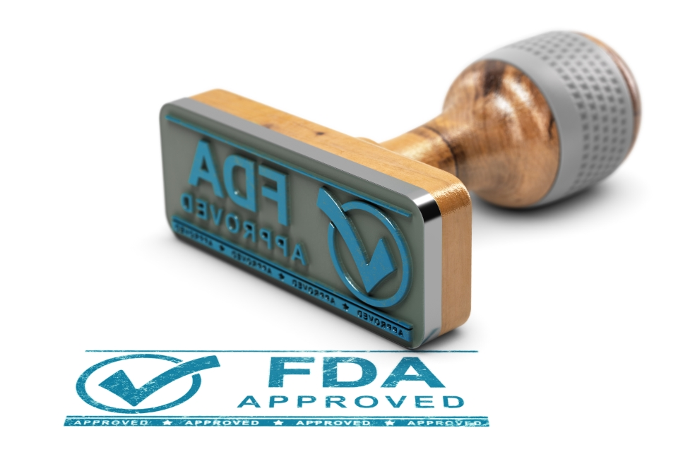 Food and Drug Administration FDA approval stamp