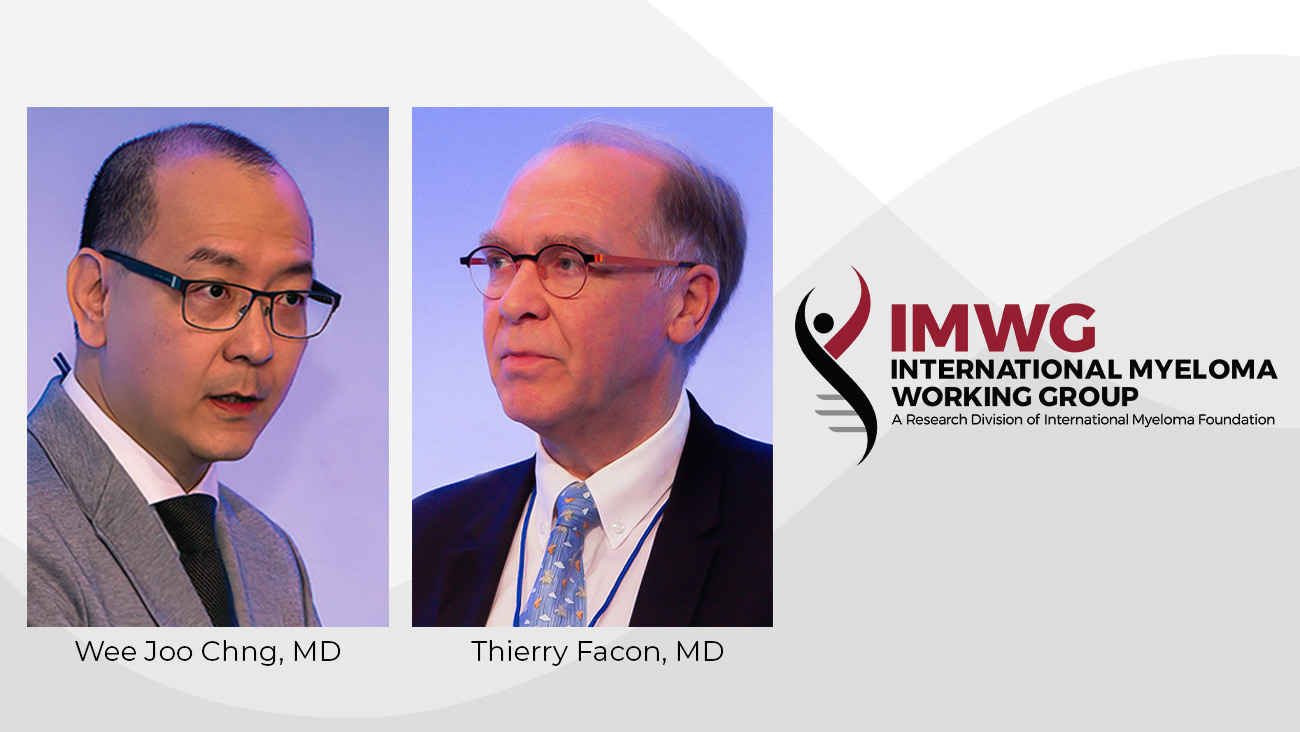 International Myeloma Working Group Award Winners Thierry Facon and Wee Joo Chng
