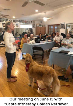 Meeting with Captain, the Golden Retriever