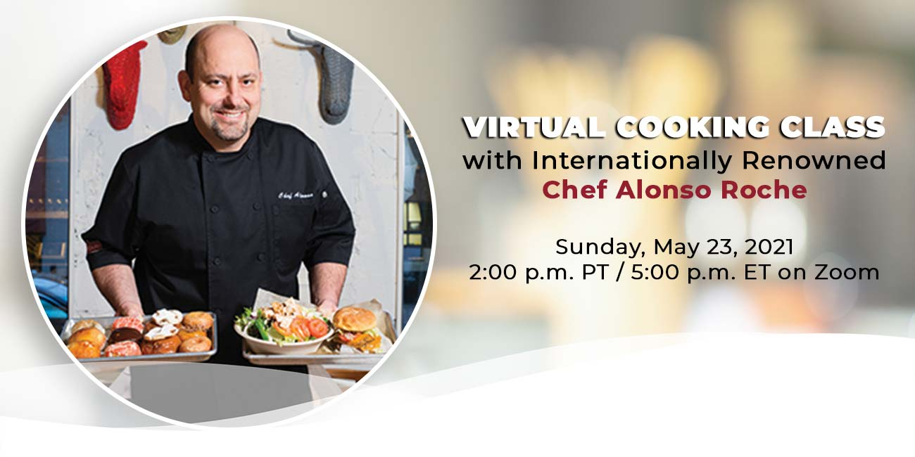 virtual cooking class with Chef Alonso Roche