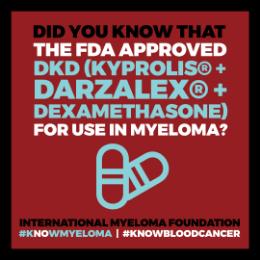 BCAM badge fda approved DKd for myeloma