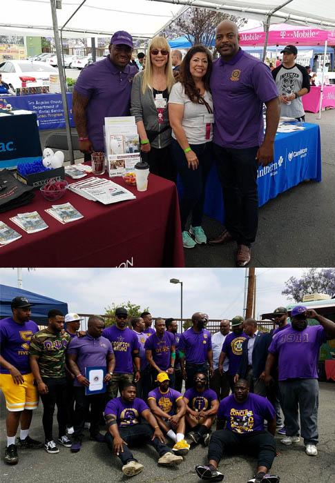 group photo at health fair