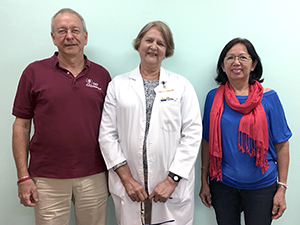 Jim Barth and his wife with Dr. Martha Osorio