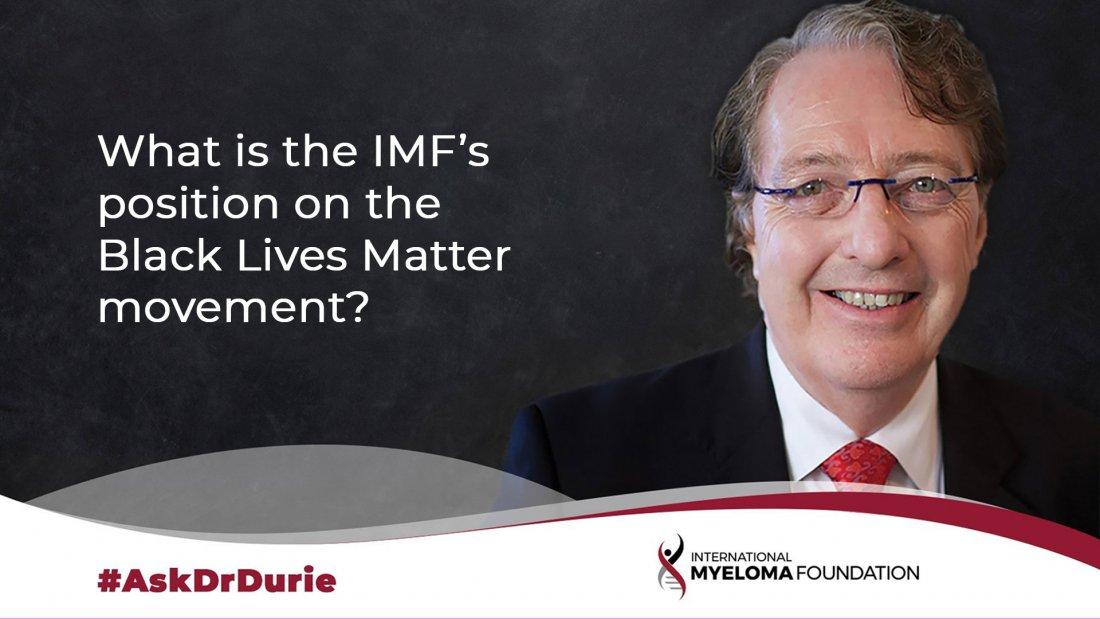 IMF position on Black Lives Matter
