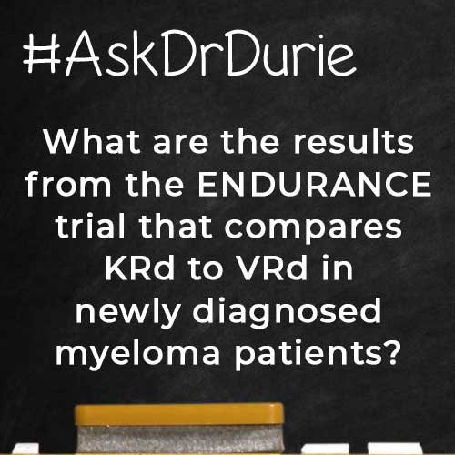 SQ - ENDURANCE trial that compares KRd to VRd in NDMM