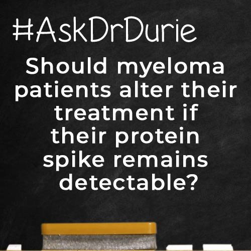 Ask Dr. Durie Blog: protein spike detectable