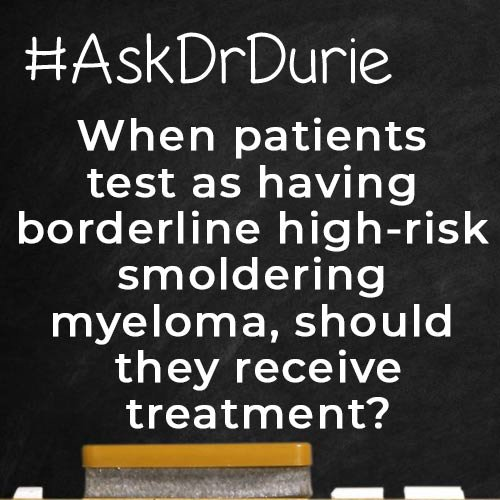 Ask doctor durie should high risk get treatment?