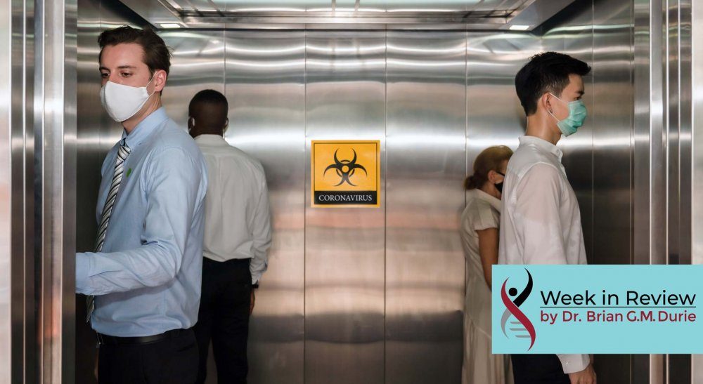 people on elevator after covid 19