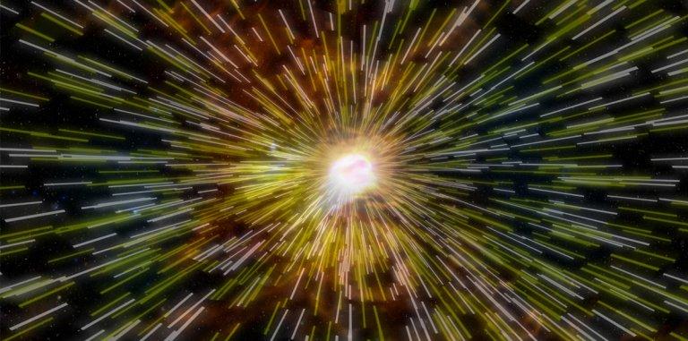 Colorful abstract image representing the'Big Bang'