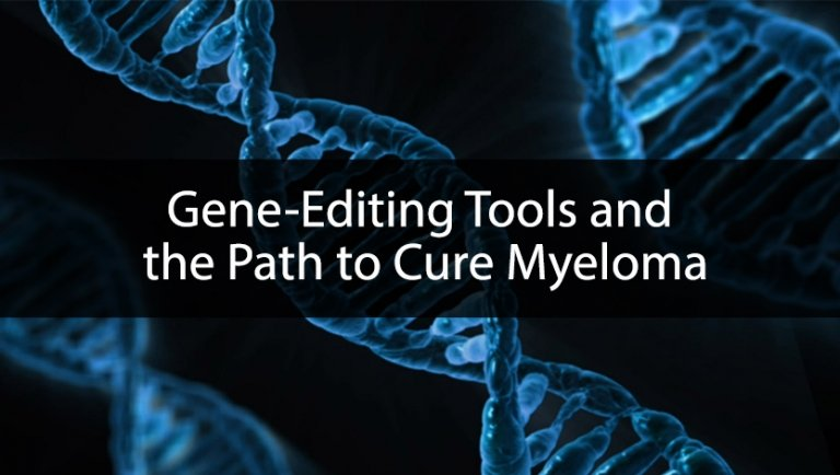 gene-editing text overlaid on depiction of dna strands
