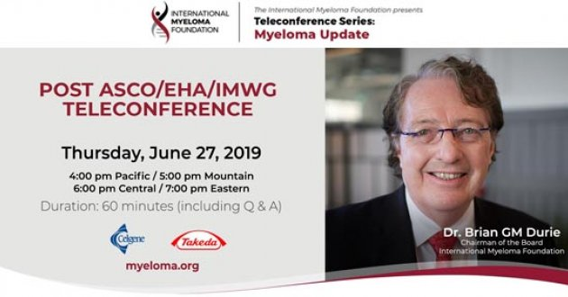 title card for Post-ASCO 2019 teleconference