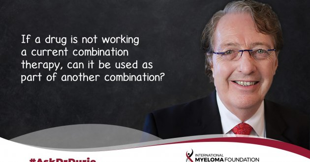 If a drug is not working  a current combination  therapy, can it be used as  part of another combination?