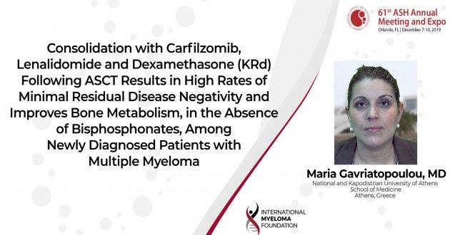 ASH 2019 Dr. Maria Gavriatoupoulou