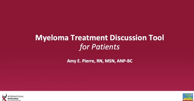 Treatment Discussion Tool for Patients