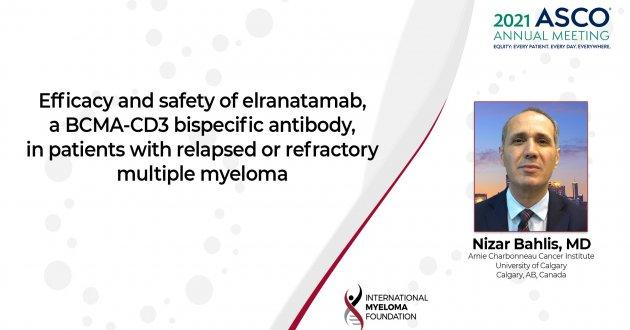 ASCO 2021 Elranatamab in relapsed refractory multiple myeloma