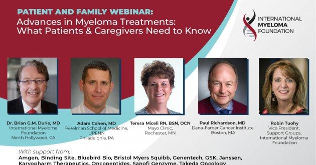 patient and family webinar headshots