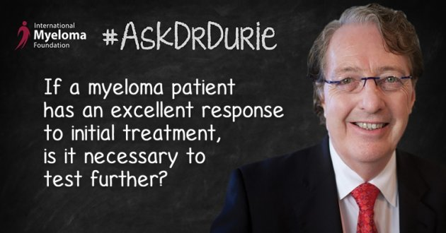 Text: Excellent Response overlaid in an image of Dr. Durie