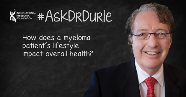 Text: effects of lifestyle overlaid on an image of Dr. Durie