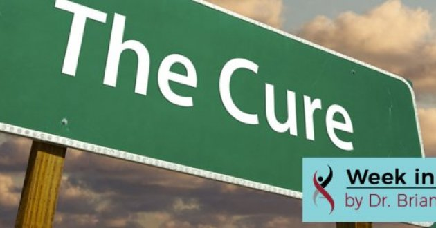 """Highway sign with the word """"cure"""""""