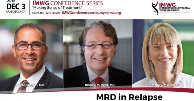 Dr. Brian Durie, Dr. Joseph Mikhael and Dr. Maria Victoria Mateos