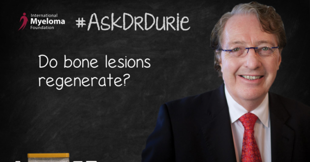 Dr.Durie answers the question do bone lesions regenerate.