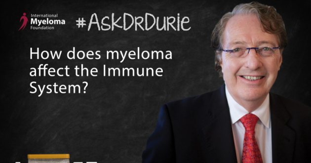 Dr. Durie discusses myeloma affect on the immune system.