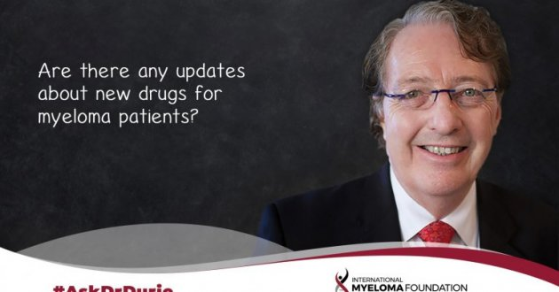 Are there any updates about new drugs for myeloma patients?