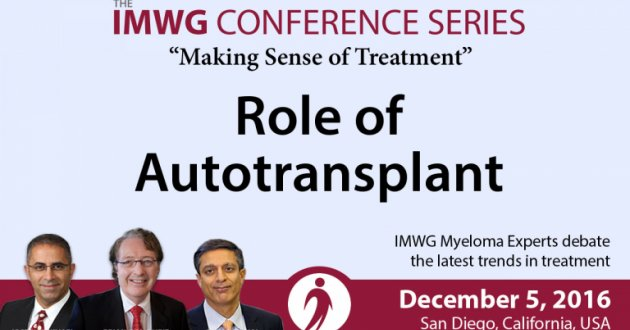 Auto Transplant Conversation At The 58th Annual ASH Meeting