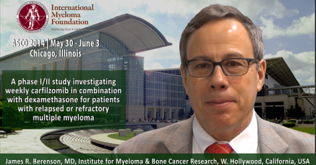 James R. Berenson, MD at ASCO convention 2014
