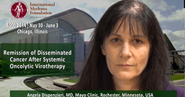 Angela Dispenzieri, MD at ASCO 2014