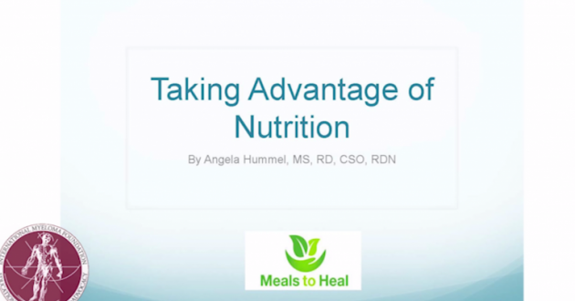 Text:Angela Hummel MS, RD, CSO, LDN talks the importance of diet and nutrition for myeloma patients.