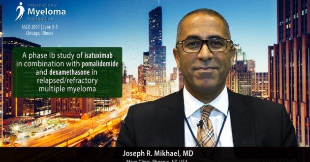 Joseph Mikhael, MD at ASCO convention 2017