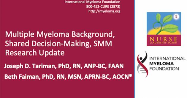 Oncology Nursing Society, Multiple Myeloma Background
