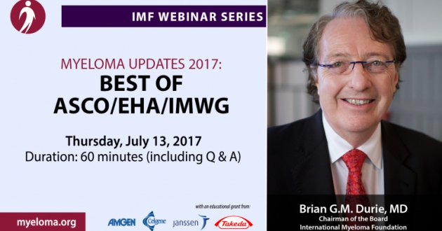 Dr. Brian G.M. Durie explains the new and current trends in myeloma treatment and research in June 2017