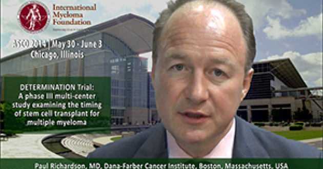 Paul Richardson, MD at ASCO convention 2014