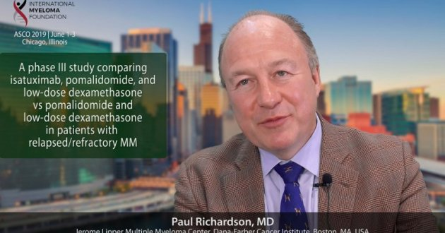 title card for Isatuximab ASCO 2019 interview with Dr. Paul Richardson
