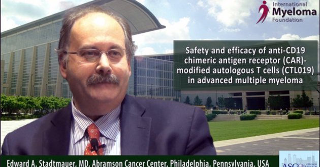Dr. Edward A. Stadtmauer at ASCO convention 2015