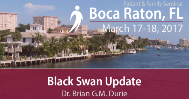 Black Swan Research Initiative Update text overlaid on image of Boca Raton beach