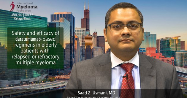 Saad Z. Usmani, MD at ASCO 2017