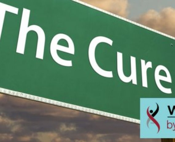 "Highway sign with the word ""cure"""