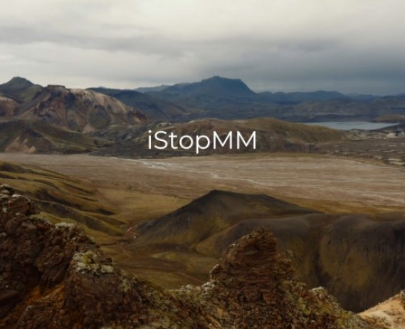 iStopMM 2 text overlaid on image of a valley