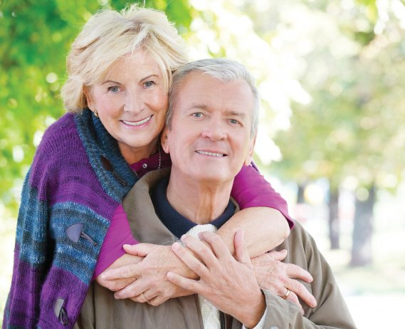elderly couple photo