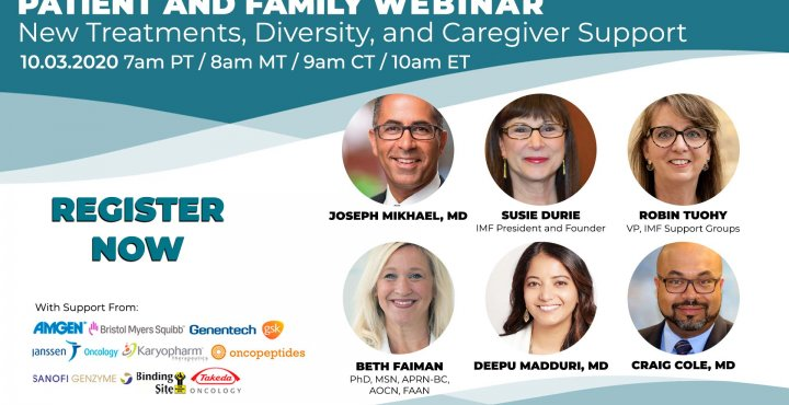 IMF Patient an Family Webinar featuring 6 panelist for October 2020