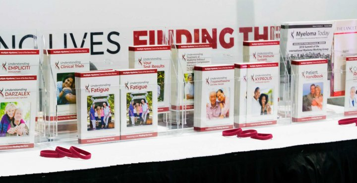 International Myeloma Foundation patient information pamphlets places on display